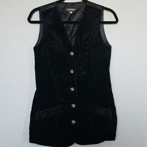 Vintage Guess Corduroy black vest medium